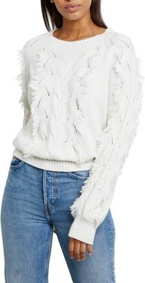Rails Francis Pointelle Fringe Sweater