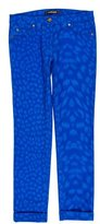 Roberto Cavalli Animal Print Low-Rise Jeans