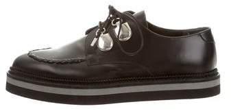 Alexander McQueen Leather Flatform Oxfords