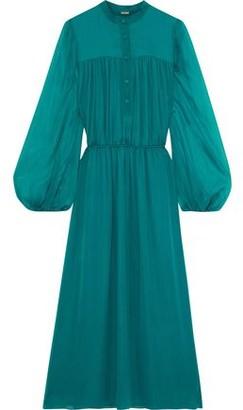 Adam Lippes Gathered Silk-chiffon Midi Dress