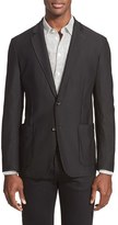 Armani Collezioni Men's Trim Fit Textured Sport Coat