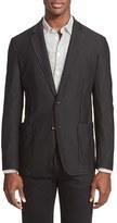 Emporio Armani Men's Armani Collezioni Trim Fit Textured Sport Coat