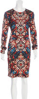 Alexander McQueen Stained Glass Print Bodycon Dress