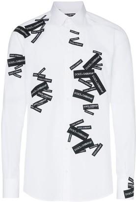 Dolce & Gabbana Logo Label Cotton Shirt