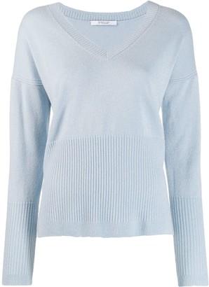 Derek Lam 10 Crosby Twilight Wool Cashmere Wooster V-Neck Sweater
