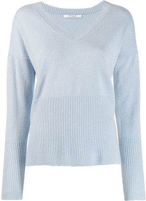Derek Lam 10 Crosby Twilight Wool Cashmere Wooster V-Neck Sweater