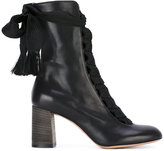 Chloé Black Harper Heeled Boots - women - Calf Leather/Leather/rubber - 39.5