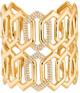 Rachel Zoe Crystal Interlocking Link Cuff