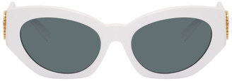 Versace White V-Medusa Cat-Eye Sunglasses