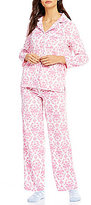 Karen Neuburger Holiday Brocade Microfleece Pajamas & Socks Set