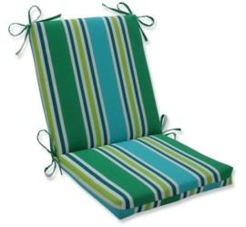 Pillow Perfect Aruba Stripe Quared Corners Chair Cushion