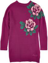 Miss Blumarine Wool blend dress with maxi flowers
