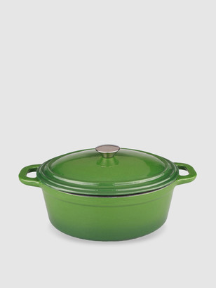 Berghoff Neo 8QT Cast Iron Oval Covered Casserole, Green
