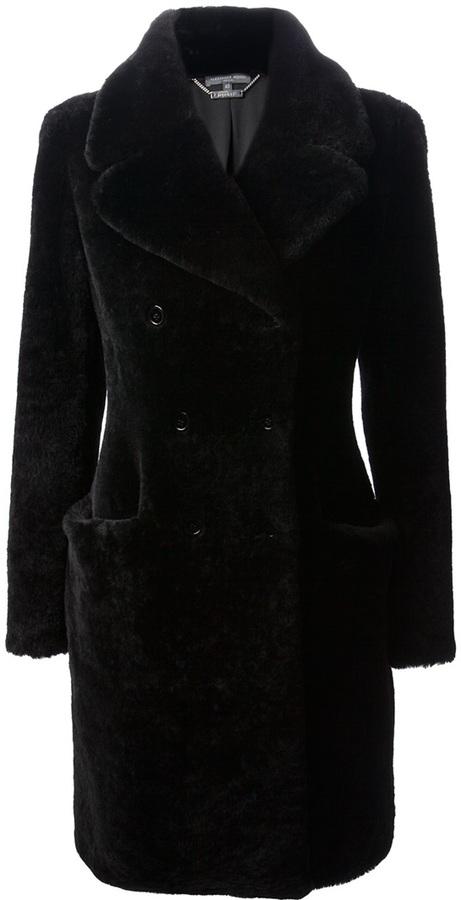 Alexander McQueen double-breasted fur coat