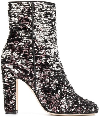 Paris Texas Sequin Embroidered Boots