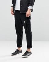 Asos Skinny Smart Pants With Side Pockets In Black