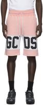 GCDS Pink Band Logo Bermuda Shorts