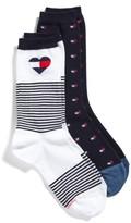 Tommy Hilfiger Women's 2-Pack Crew Socks
