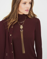 White House Black Market Semi-Collar Tassel Necklace