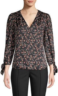 Rebecca Taylor Lia Stretch-Silk Floral Top