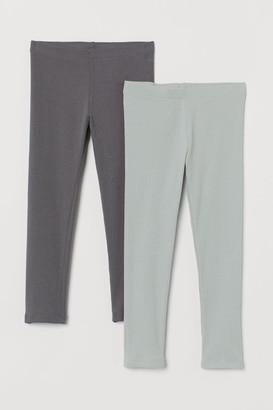 H&M 2-Pack Ribbed Leggings