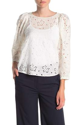Rebecca Taylor Sarah Embroidered Silk Blouse