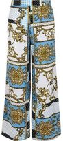 River Island Girls blue baroque print palazzo trousers