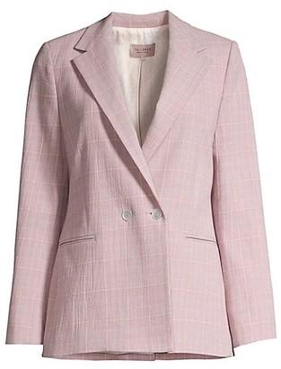 Rebecca Taylor Rose Plaid Suit Jacket