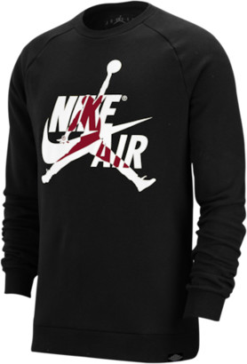 Jordan Jumpman Classics Fleece Crew Sweatshirt - Black / White