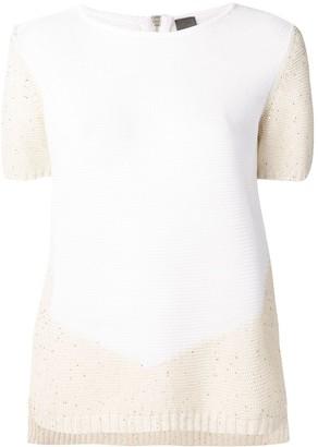 Lorena Antoniazzi Colour-Block Knitted Top