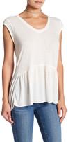 Susina Peplum Cap Sleeve Shirt