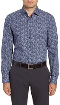 Emanuel Berg Regular Fit Floral Print Button-Up Shirt
