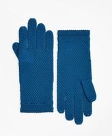Brooks Brothers Waffle-Knit Merino Wool Gloves