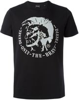 Diesel only the brave embossed T-shirt
