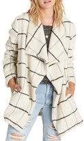 Billabong Women's Evermore Plaid Coat
