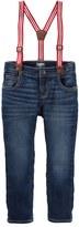 Osh Kosh Baby Boy Striped Suspender Jeans