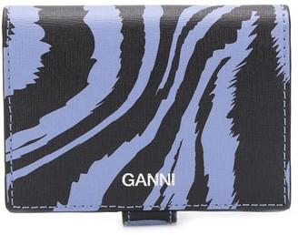 Ganni Zebra-Print Wallet