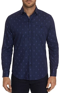 Robert Graham Wilshire Skull-Pattern Classic Fit Shirt