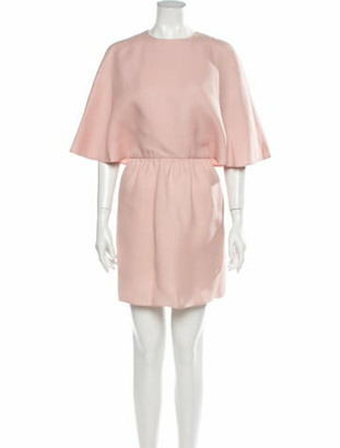 Valentino Silk Mini Dress Pink