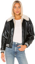 Mother The Faux Fur & Vegan Leather Moto Jacket
