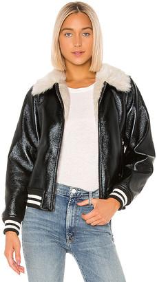 Mother The Faux Fur & Vegan Leather Moto Jacket