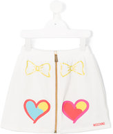 Moschino Kids - zipped skirt - kids - Cotton/Spandex/Elastane - 4 yrs