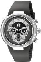 Philip Stein Teslar Unisex 32-AGR-RBGR Active Grey Chronograph Rubber Strap Watch
