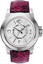 Bulova 76L172 Timepieces Women's Quartz Analog Watch with White Dial and Fuchsia Leather Strap