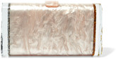 Edie Parker Lara Glittered Acrylic Box Clutch - Gold