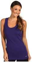 Nike Tight Traditional Dri-Fit Cotton Rib Tank (Night Blue/Cool Grey) - Apparel