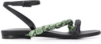 Del Carlo Crocodile Strap Sandals