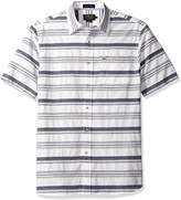 Pendleton Men's Short Sleeve Fitted Kay Street Shirt, Blue/White