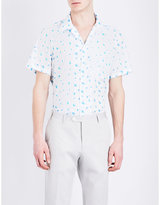 Richard James Floral-print Cotton Shirt