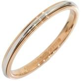 Tiffany & Co. LUCIDA Platinum & 18K Rose Gold Band Ring